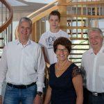 Anneliese und  Werner Paltian die 3. Generation und Michael und Jonas 4 Generation